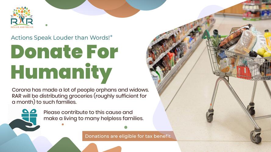 Groceries Distribution, Hyderabad - RAR Charitable Trust
